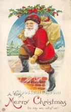 hol016317 - Santa Claus Postcard Old Vintage Christmas Post Card