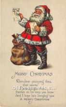 hol016318 - Santa Claus Postcard Old Vintage Christmas Post Card
