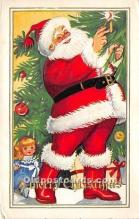 hol016319 - Santa Claus Postcard Old Vintage Christmas Post Card
