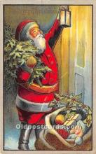hol016320 - Santa Claus Postcard Old Vintage Christmas Post Card