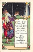 hol016321 - Santa Claus Postcard Old Vintage Christmas Post Card
