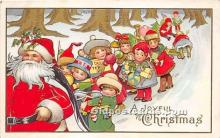 hol016325 - Santa Claus Postcard Old Vintage Christmas Post Card