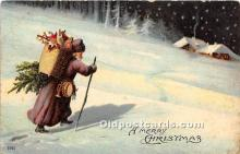 hol016326 - Santa Claus Postcard Old Vintage Christmas Post Card