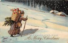 hol016327 - Santa Claus Postcard Old Vintage Christmas Post Card