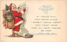 hol016328 - Santa Claus Postcard Old Vintage Christmas Post Card