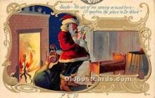 hol016330 - Santa Claus Postcard Old Vintage Christmas Post Card