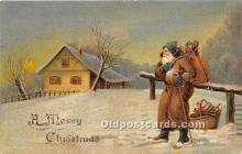 hol016331 - Santa Claus Postcard Old Vintage Christmas Post Card