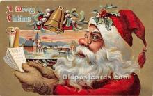 hol016332 - Santa Claus Postcard Old Vintage Christmas Post Card