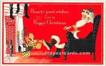 hol016333 - Santa Claus Postcard Old Vintage Christmas Post Card