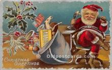 hol016336 - Santa Claus Postcard Old Vintage Christmas Post Card