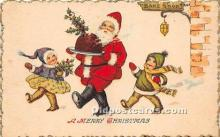 hol016341 - Santa Claus Postcard Old Vintage Christmas Post Card