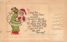 hol016342 - Santa Claus Postcard Old Vintage Christmas Post Card