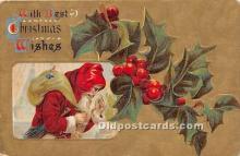 hol016345 - Santa Claus Postcard Old Vintage Christmas Post Card