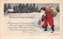 hol016346 - Santa Claus Postcard Old Vintage Christmas Post Card