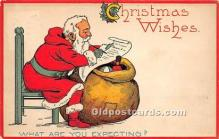 hol016347 - Santa Claus Postcard Old Vintage Christmas Post Card