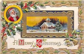 hol016350 - Santa Claus Postcard Old Vintage Christmas Post Card