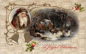 hol016351 - Santa Claus Postcard Old Vintage Christmas Post Card