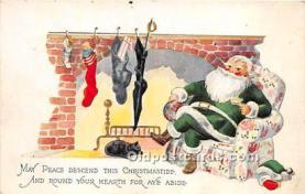 hol016353 - Santa Claus Postcard Old Vintage Christmas Post Card