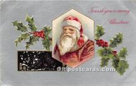 hol016354 - Santa Claus Postcard Old Vintage Christmas Post Card