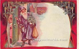hol016357 - Santa Claus Postcard Old Vintage Christmas Post Card