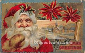 hol016359 - Santa Claus Postcard Old Vintage Christmas Post Card