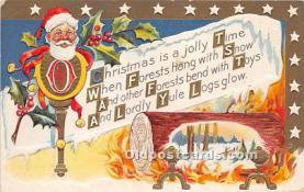 hol016360 - Santa Claus Postcard Old Vintage Christmas Post Card