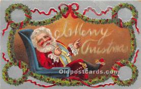 hol016365 - Santa Claus Postcard Old Vintage Christmas Post Card