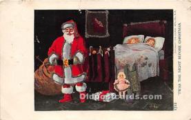 hol016369 - Santa Claus Postcard Old Vintage Christmas Post Card