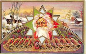 hol016370 - Santa Claus Postcard Old Vintage Christmas Post Card