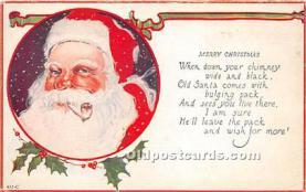 hol016373 - Santa Claus Postcard Old Vintage Christmas Post Card