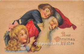 hol016374 - Santa Claus Postcard Old Vintage Christmas Post Card