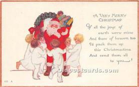 hol016377 - Santa Claus Postcard Old Vintage Christmas Post Card