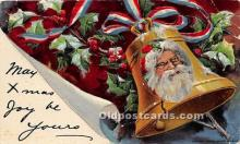 hol016383 - Santa Claus Postcard Old Vintage Christmas Post Card