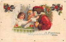 hol016390 - Santa Claus Postcard Old Vintage Christmas Post Card