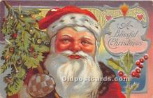 hol016392 - Santa Claus Postcard Old Vintage Christmas Post Card