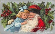 hol016393 - Santa Claus Postcard Old Vintage Christmas Post Card