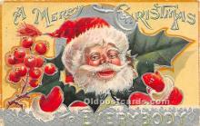 hol016394 - Santa Claus Postcard Old Vintage Christmas Post Card