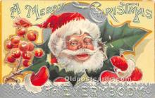hol016395 - Santa Claus Postcard Old Vintage Christmas Post Card