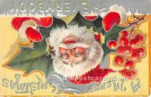 hol016396 - Santa Claus Postcard Old Vintage Christmas Post Card