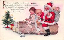 hol016398 - Santa Claus Postcard Old Vintage Christmas Post Card