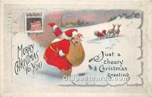 hol016400 - Santa Claus Postcard Old Vintage Christmas Post Card