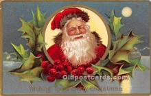 hol016404 - Santa Claus Postcard Old Vintage Christmas Post Card