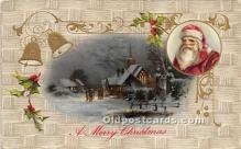 hol016405 - Santa Claus Postcard Old Vintage Christmas Post Card