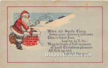 hol016407 - Santa Claus Postcard Old Vintage Christmas Post Card