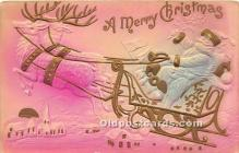 hol016408 - Santa Claus Postcard Old Vintage Christmas Post Card