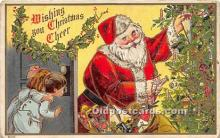 hol016409 - Santa Claus Postcard Old Vintage Christmas Post Card