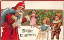 hol016411 - Santa Claus Postcard Old Vintage Christmas Post Card