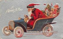 hol016412 - Santa Claus Postcard Old Vintage Christmas Post Card