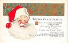hol016416 - Santa Claus Postcard Old Vintage Christmas Post Card