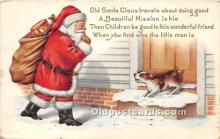 hol016417 - Santa Claus Postcard Old Vintage Christmas Post Card